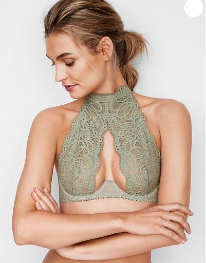 DREAM ANGELS Crochet Lace High-neck Bra