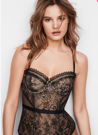 VERY SEXY Floral Lace Cutout Bustier