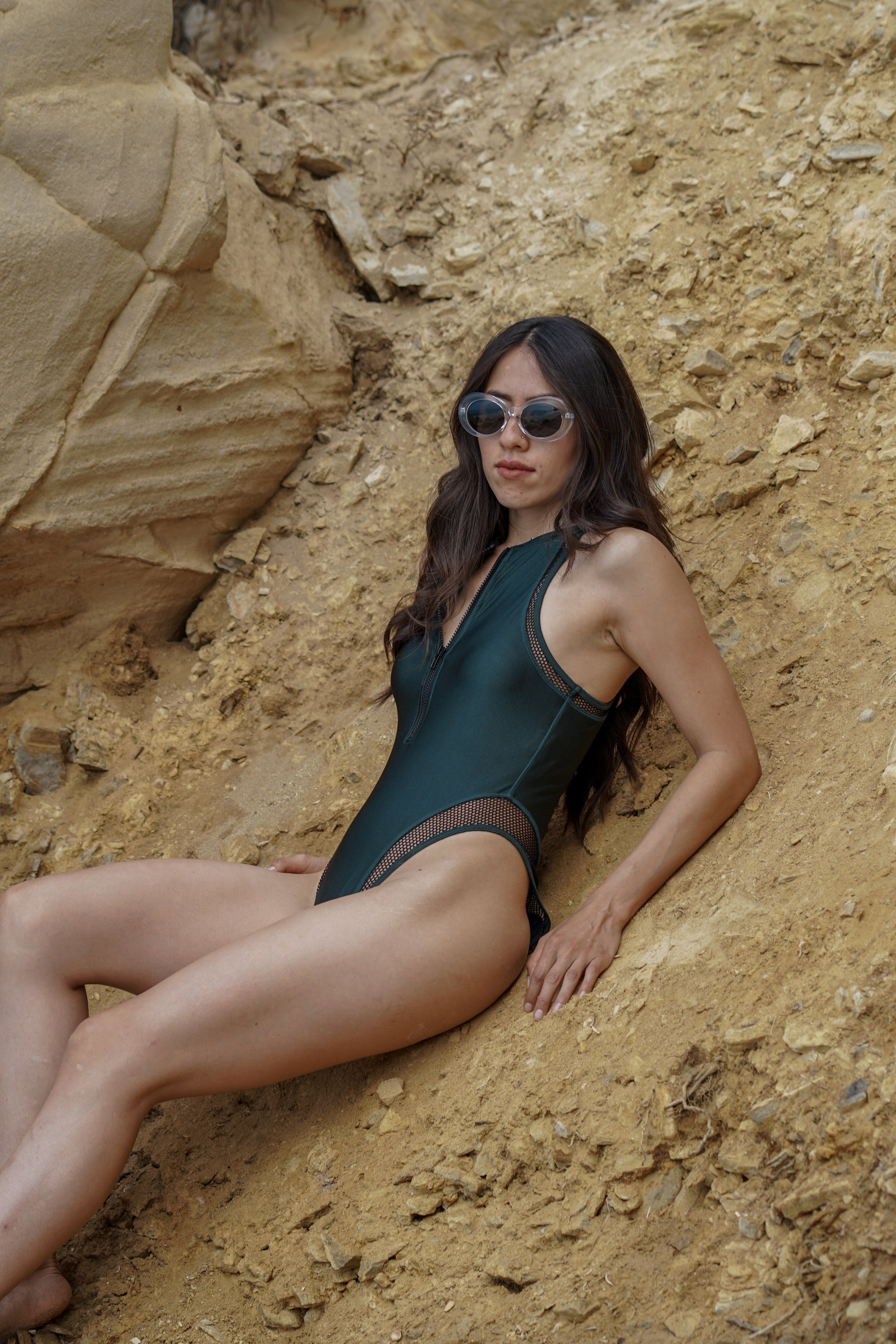 Green One Piece Bathing Suit