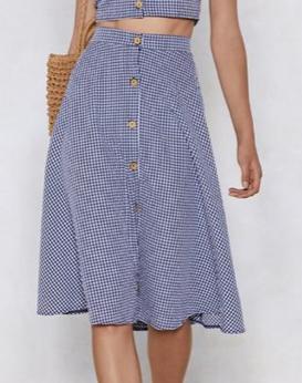 Meet Me in the Midi Gingham Skirt