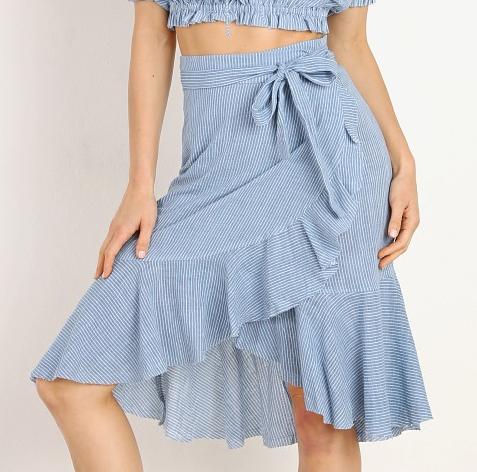 Rue Stiic Monterey Skirt French Blue Stripe