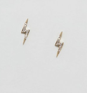 Estella Bartlett lightning bolt stud earrings in gold