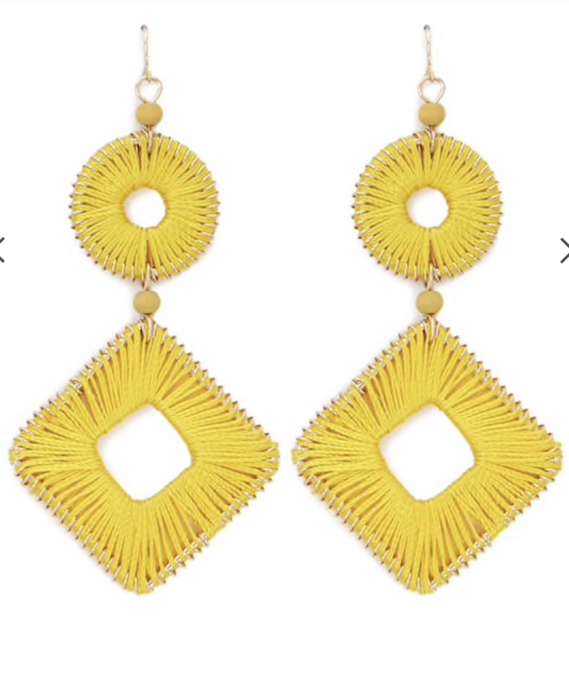 Threaded Geo Drop Earrings
