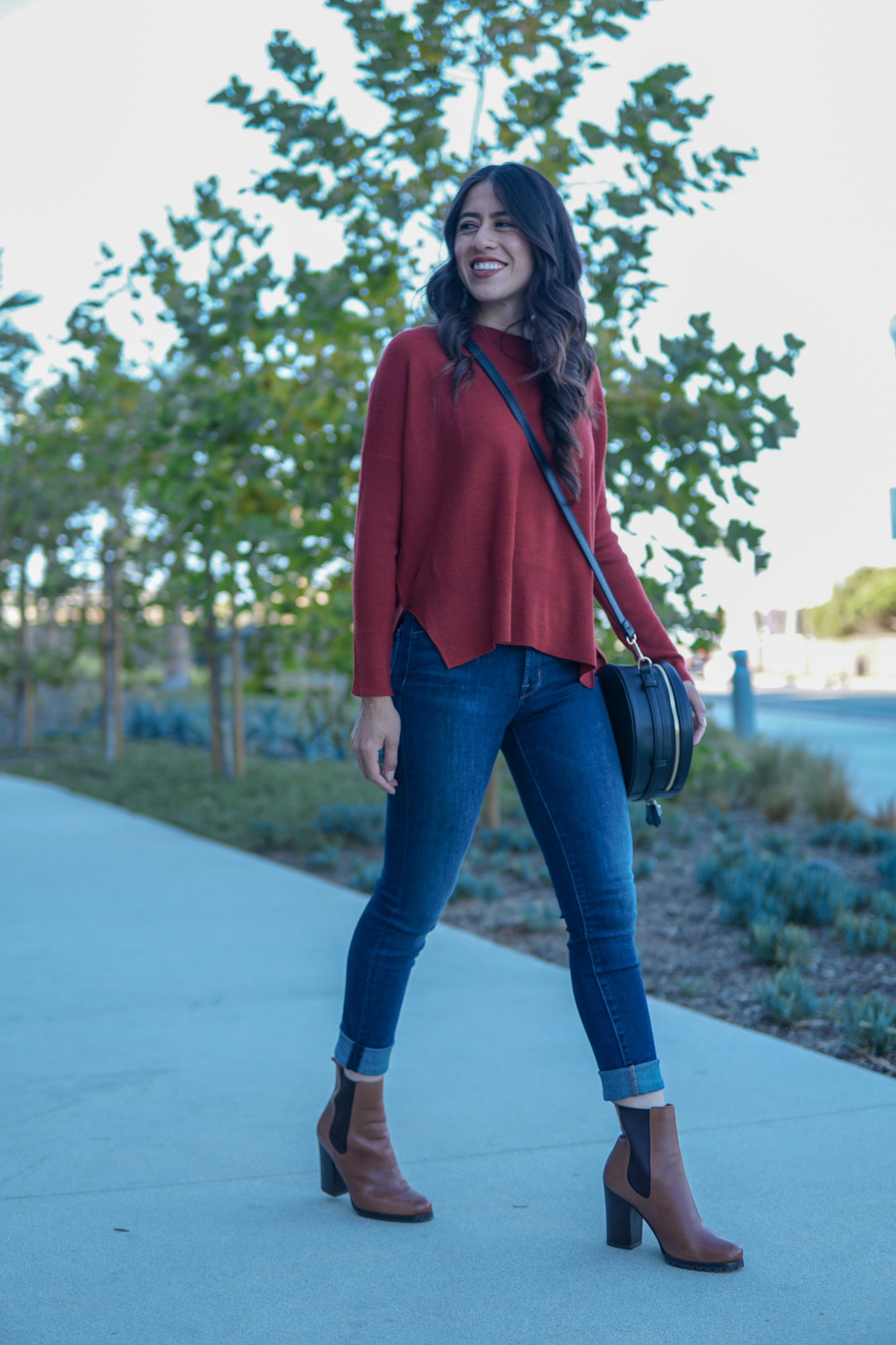 Casual Outfit- J brand Jeans Coach Boots