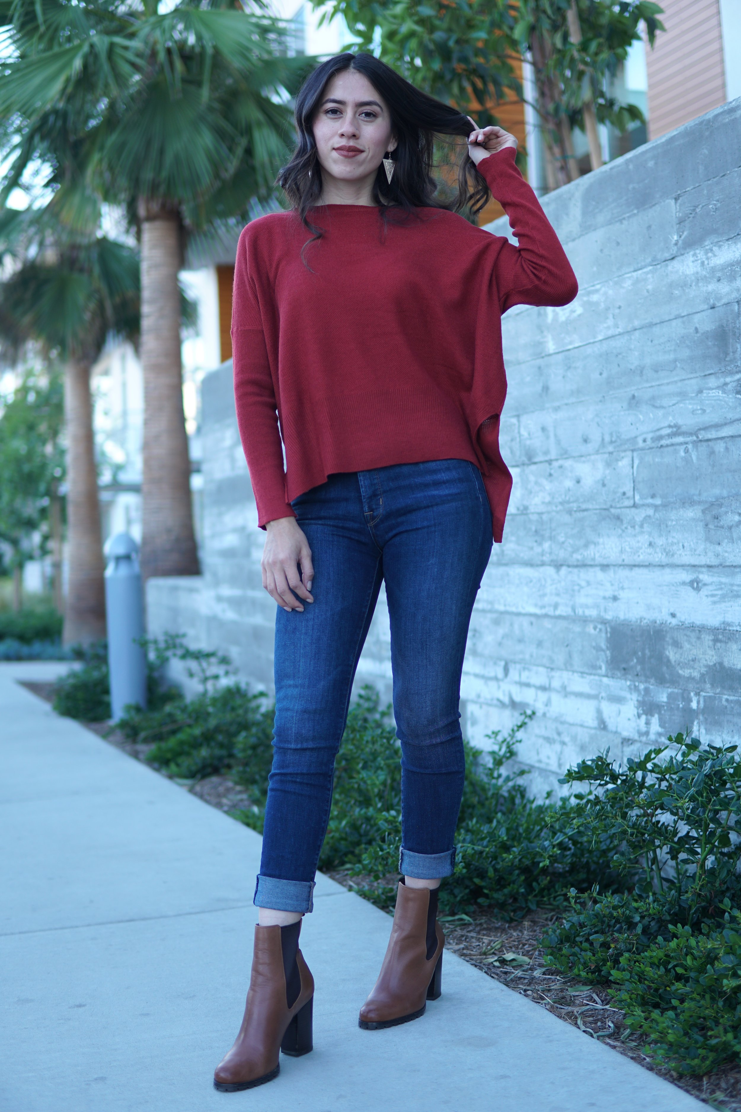 Casual Outfit Oversized sweater and jeans