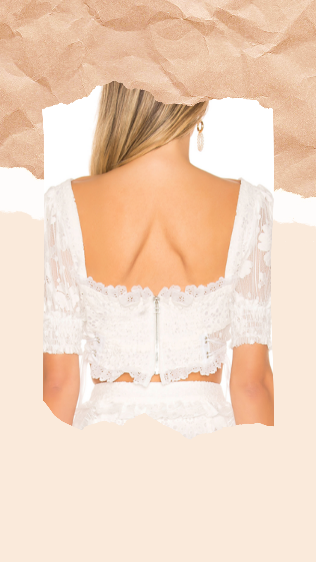 For Love & Lemons Indio Lace Crop Top