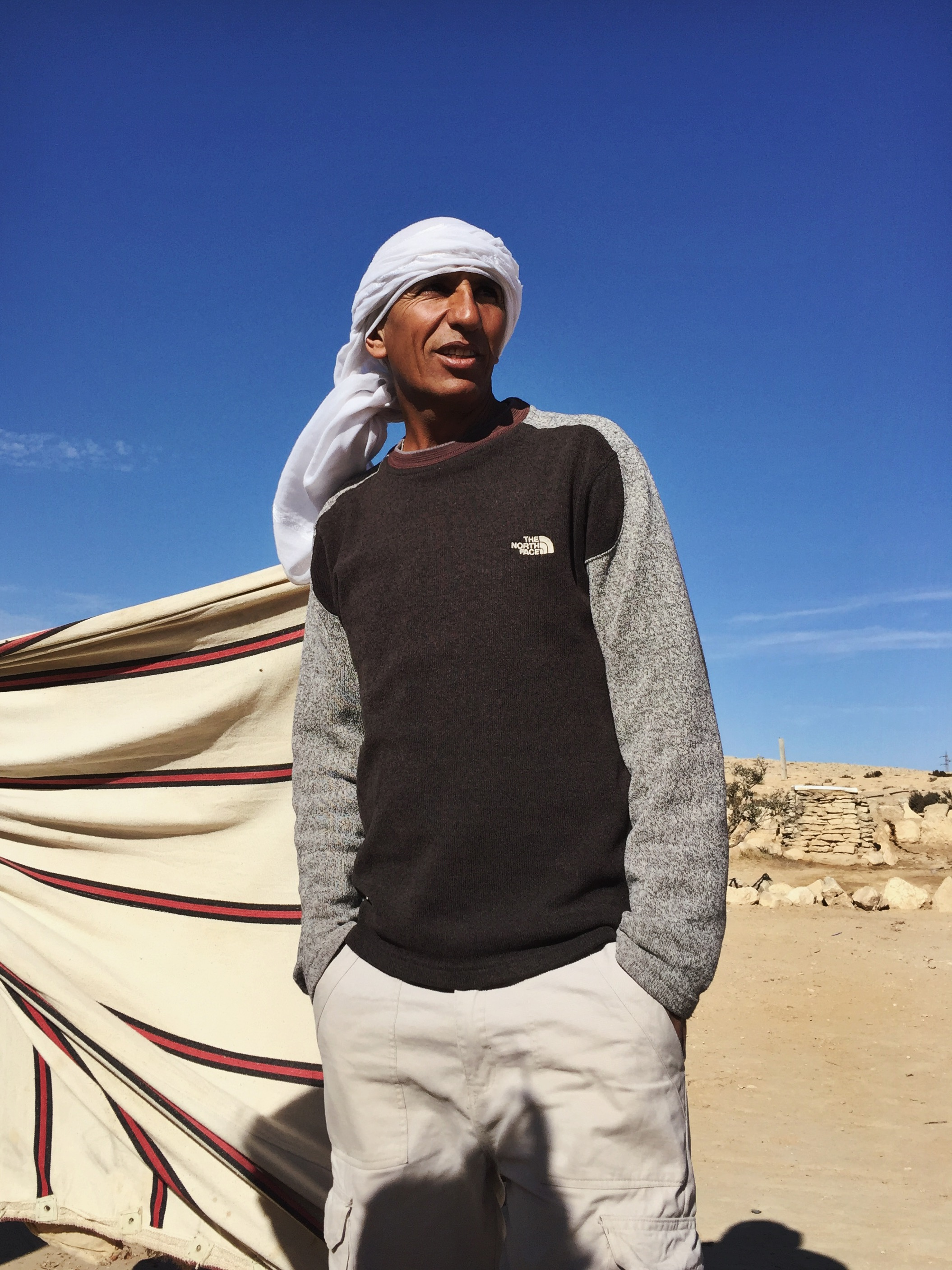 Salman Sadan, photographed in Wadi Aricha, in the Negev Desert.