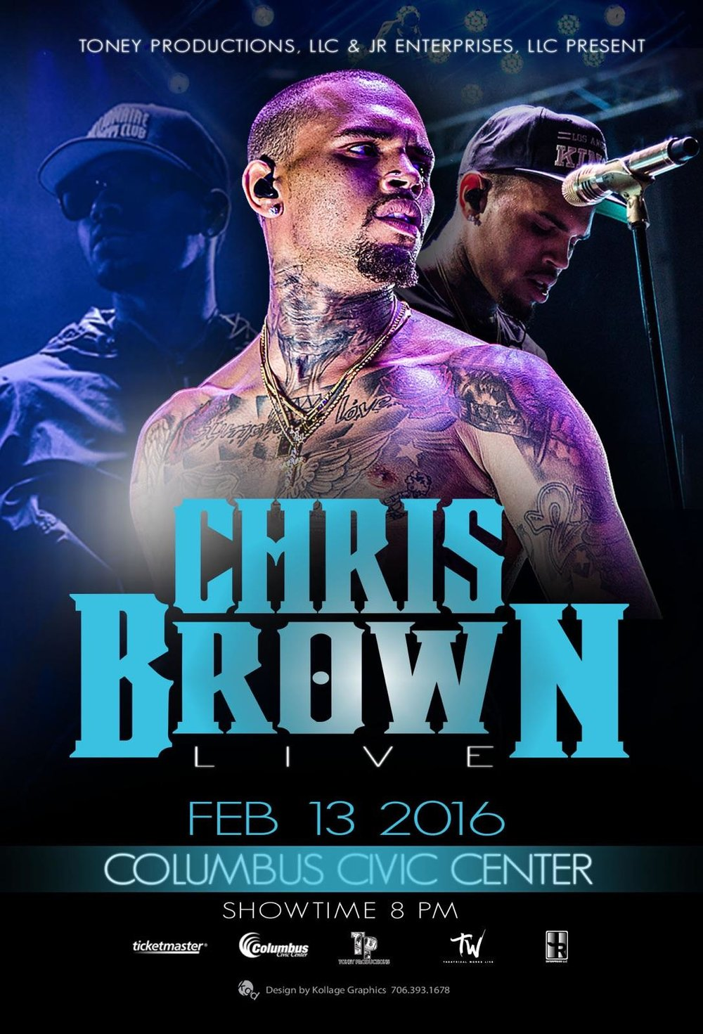 Concert Promotions - JR Sports Enterprises has promoted several concerts and appearances around the country including the 2016 Chris Brown Concert in Columbus, Georgia