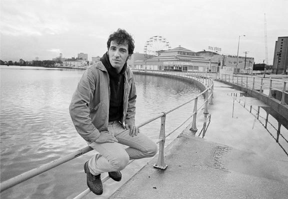 Bruce Springsteen in Asbury Park, New Jersey, 1979. Photo by Joel Bernstein.
