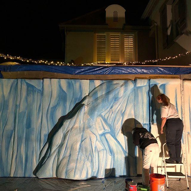 Magic at work....painting @JourneytoPolarPoint
