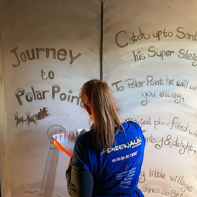 Painting mural for #journeytopolarpoint