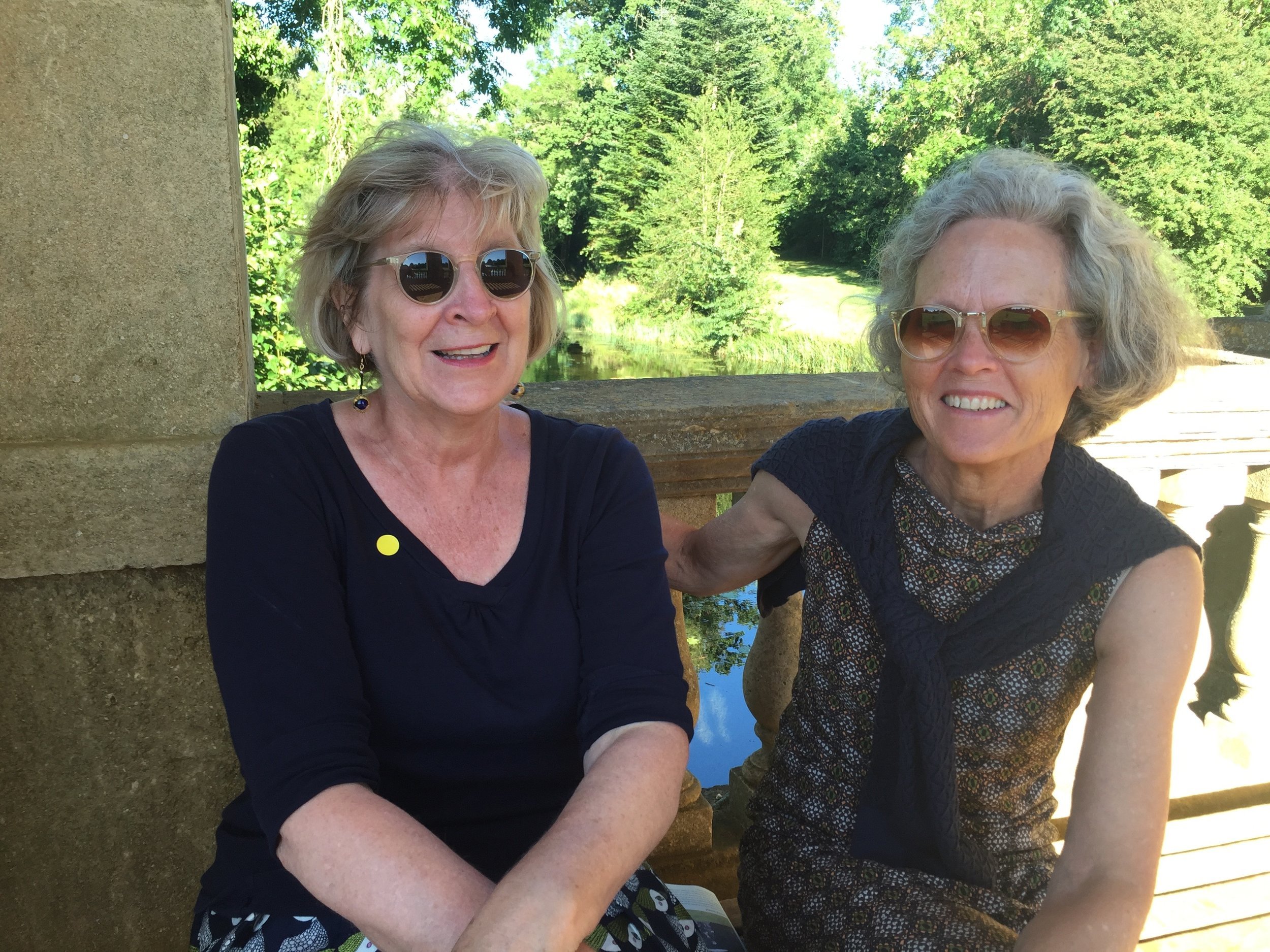 Garden Historian Nancy Leszczynski and Libby Lubin at the gardens of Stowe