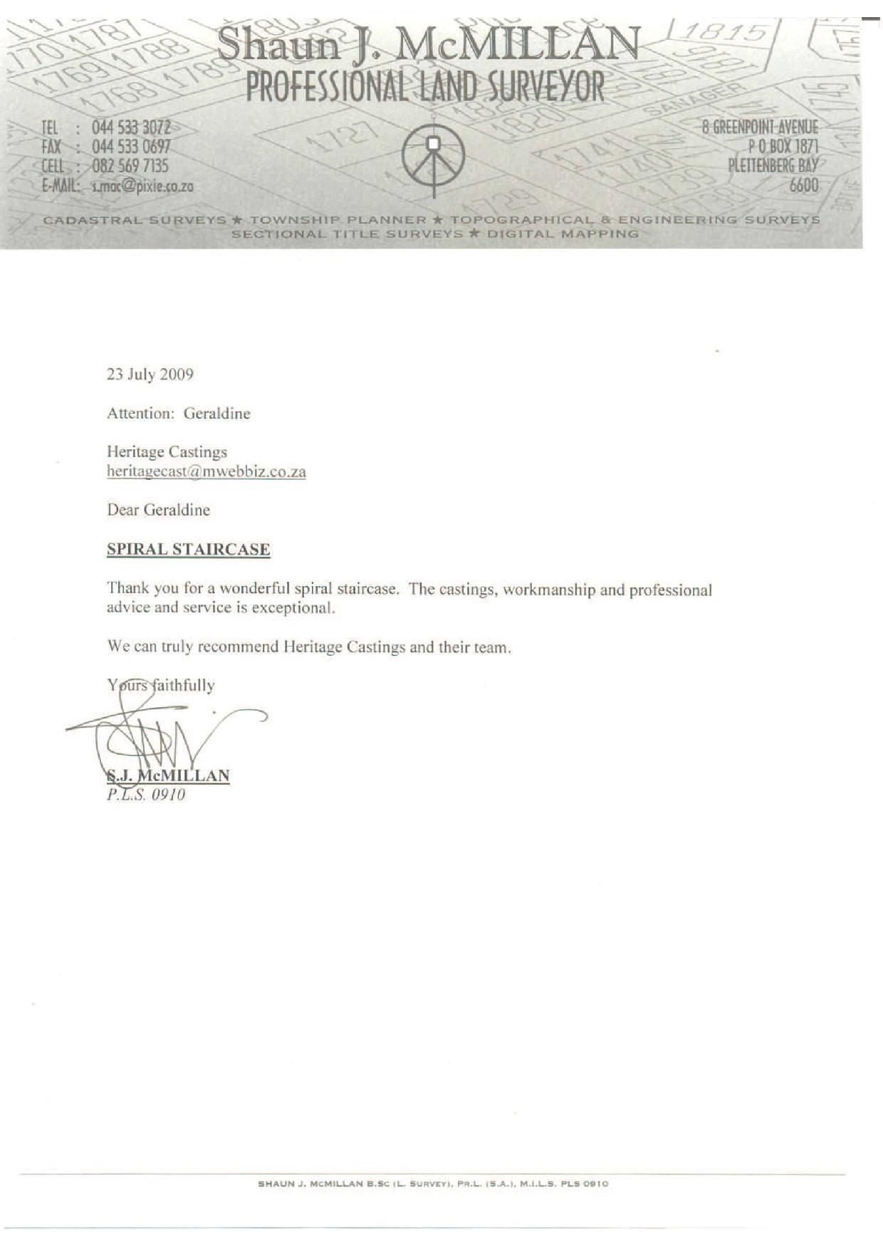 Heritage Castings letter 24 JUL 09.jpg