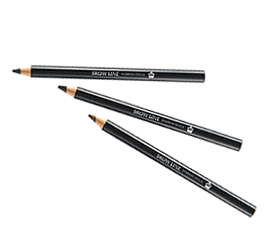 BROW LINE    Eyebrow Pencil   3 shades  Our special colouring formula ensures the eyebrow pencil adheres to the skin smoothly and gently with a suitable firmness, enabling you to easily draw delicate eyebrow hairs one by one. Brow Line is waterproof, resists perspiration and maintains a beautiful finish. It prevents dullness and crumbling due to sebum and other factors.  >  SHARPENER
