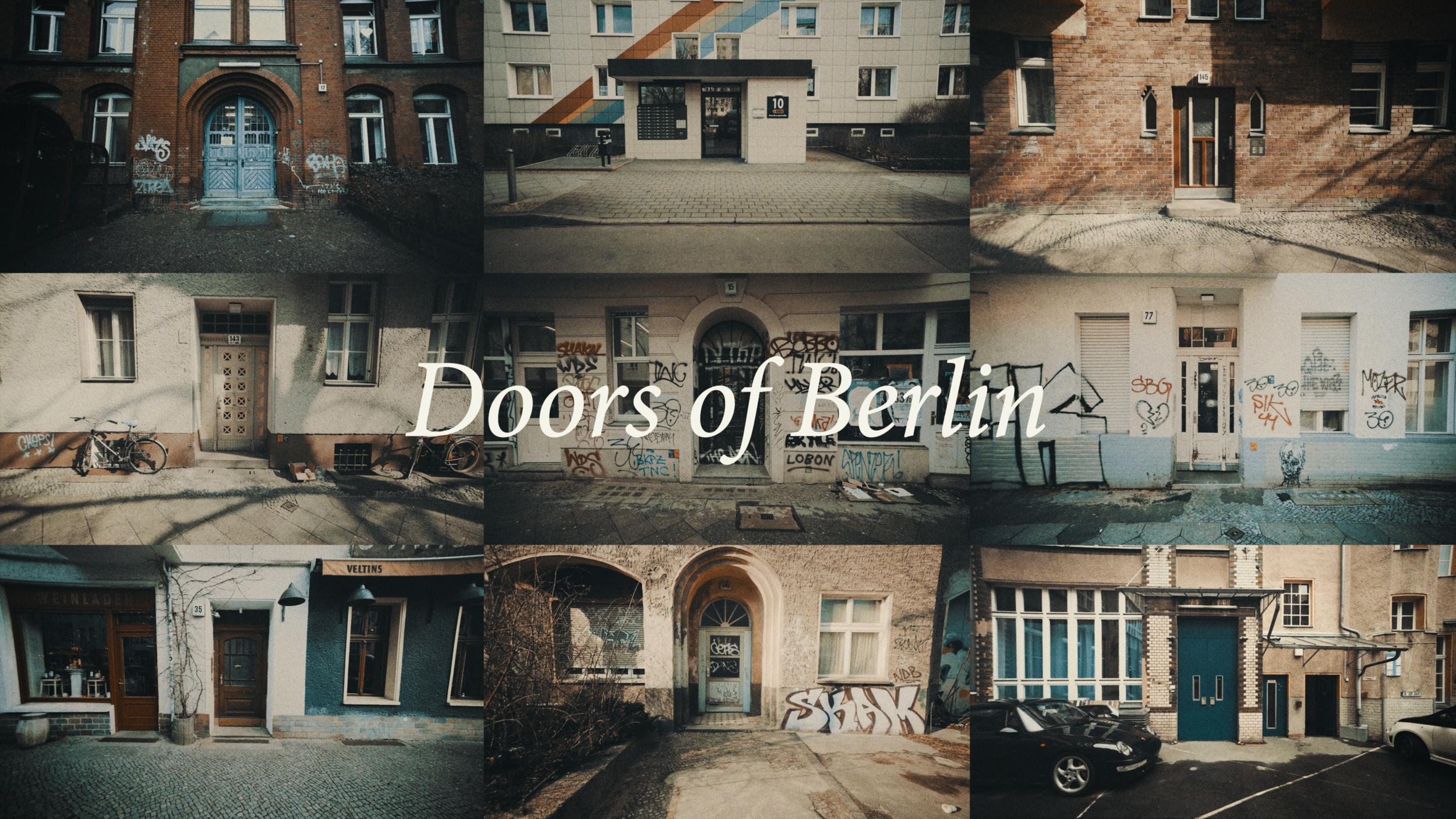 Doors of Berlin - Whizzing through the doors of Berlin.