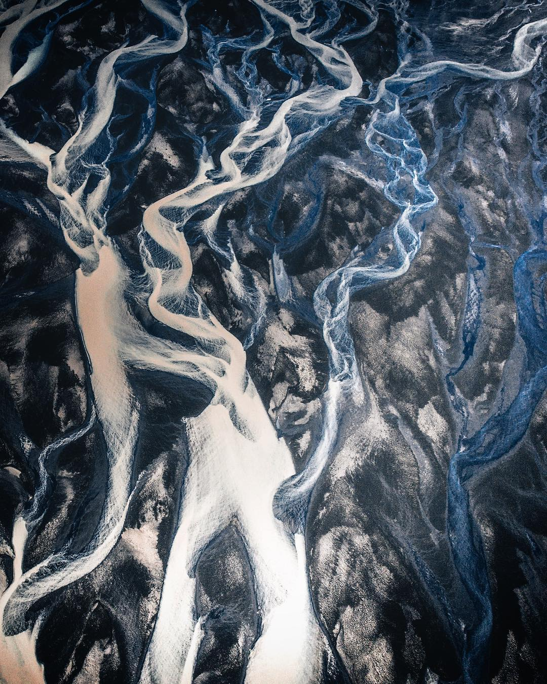 Glacial rivers, Iceland.