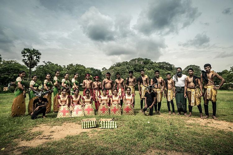 Dancing group, Sri Lanka.