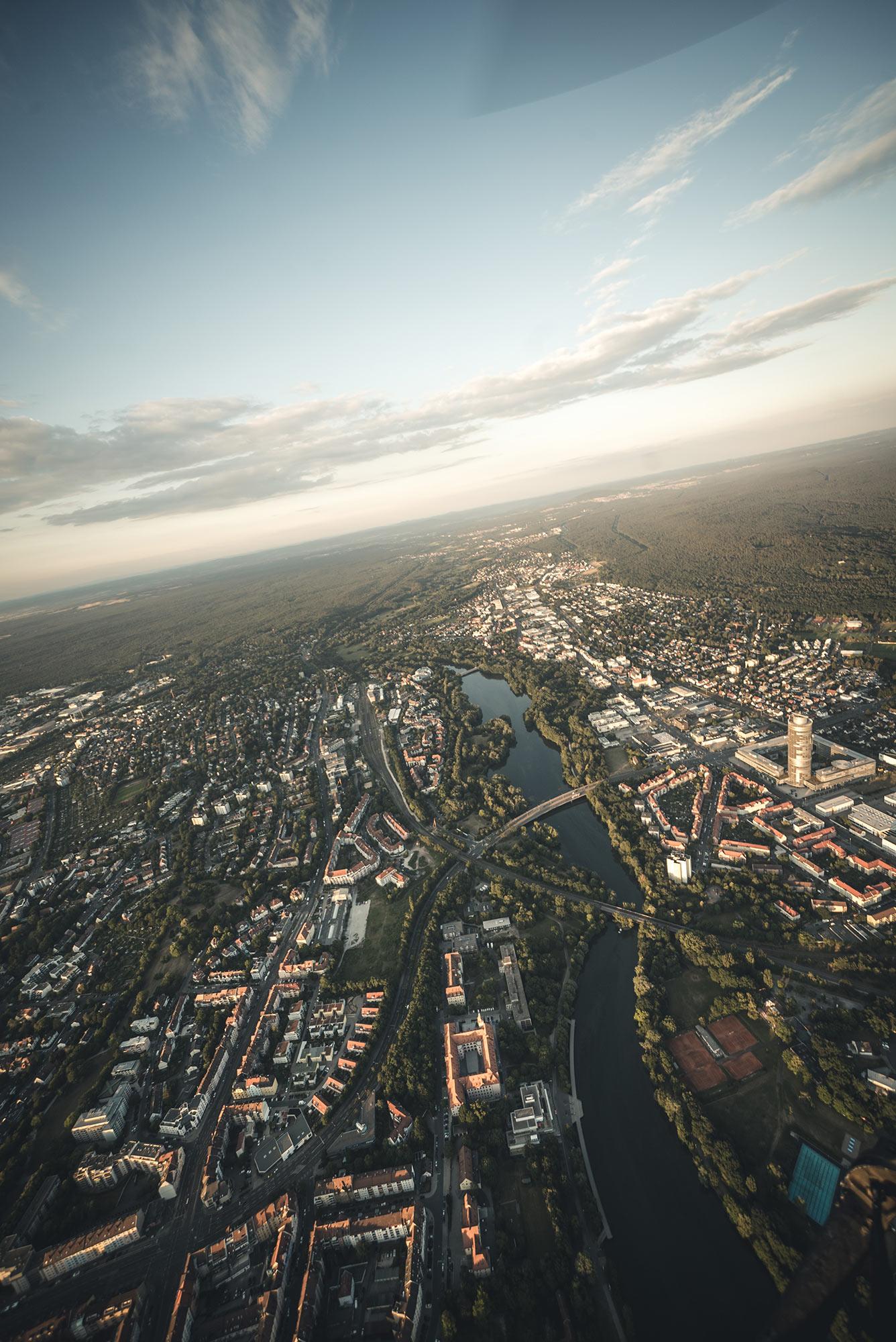 Aerial, Wöhrder See, Nuremberg.