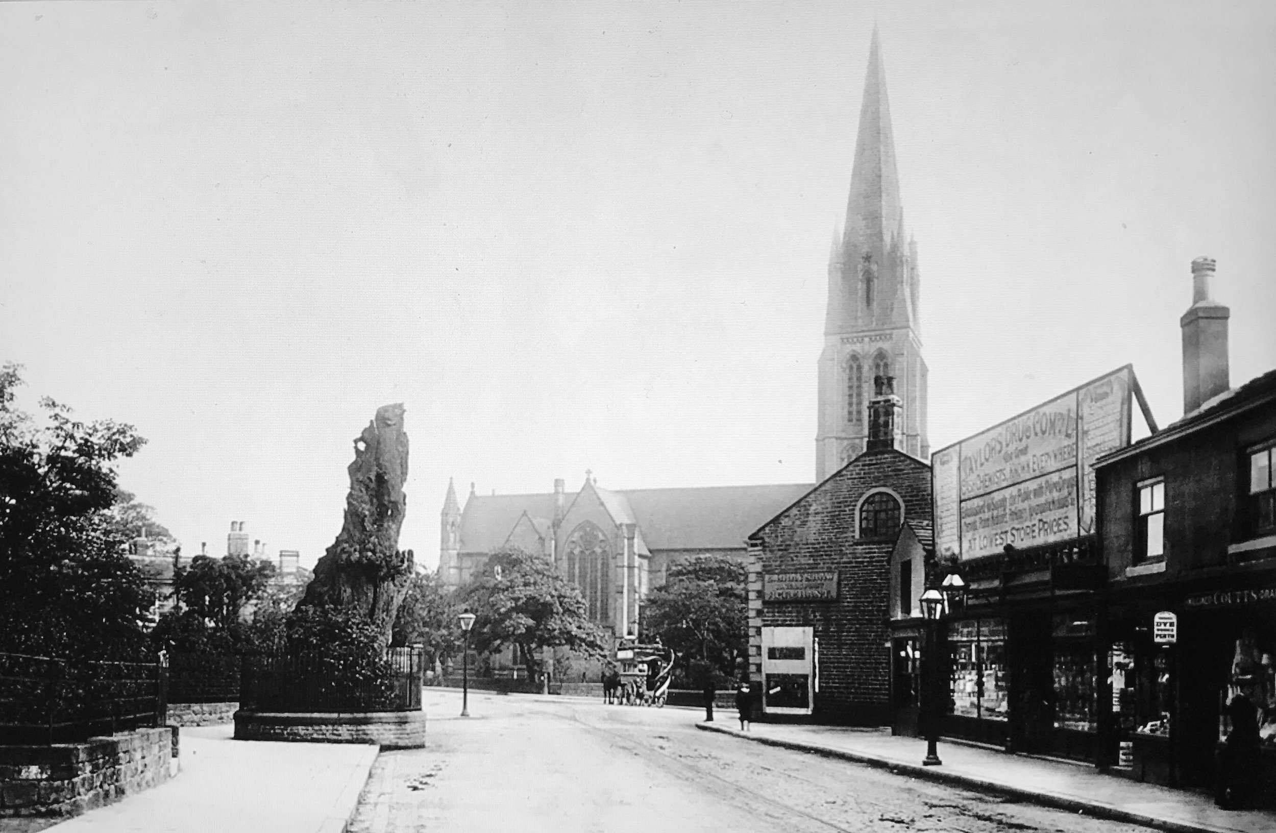 St Michael's Church and Skyrack Inn, 1897