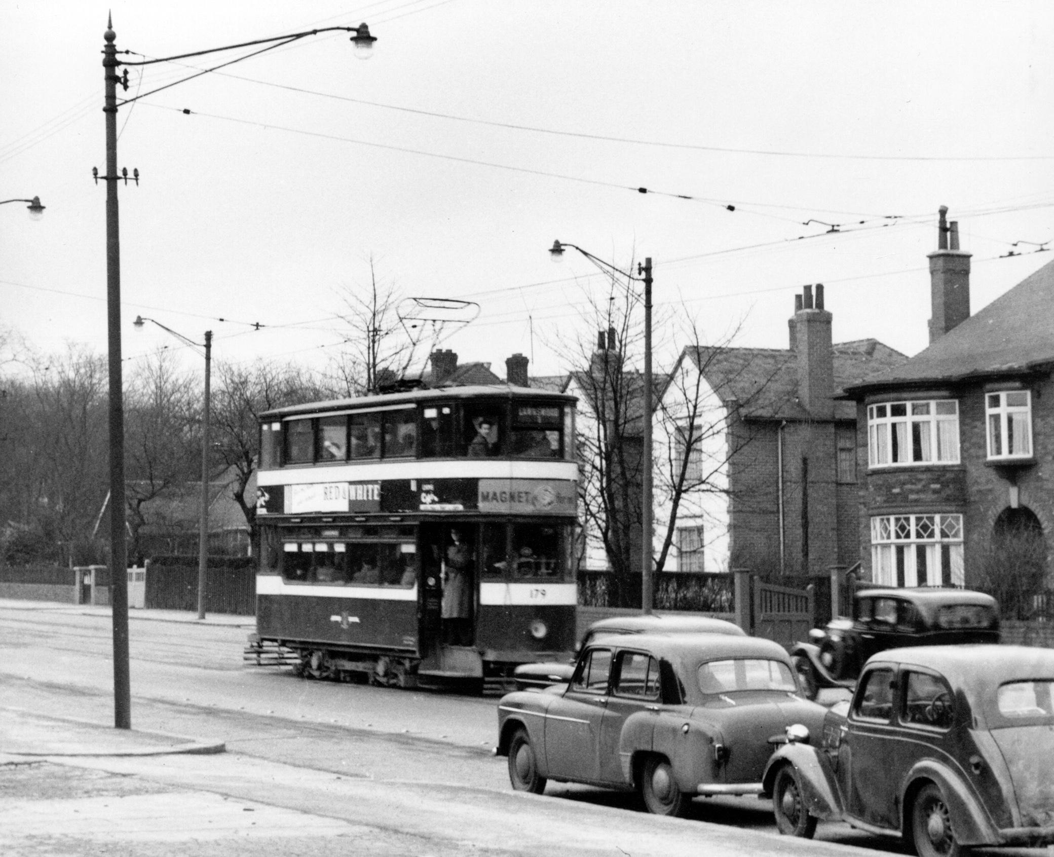 Otley Road/ Last Tram No 179 to Lawnswood