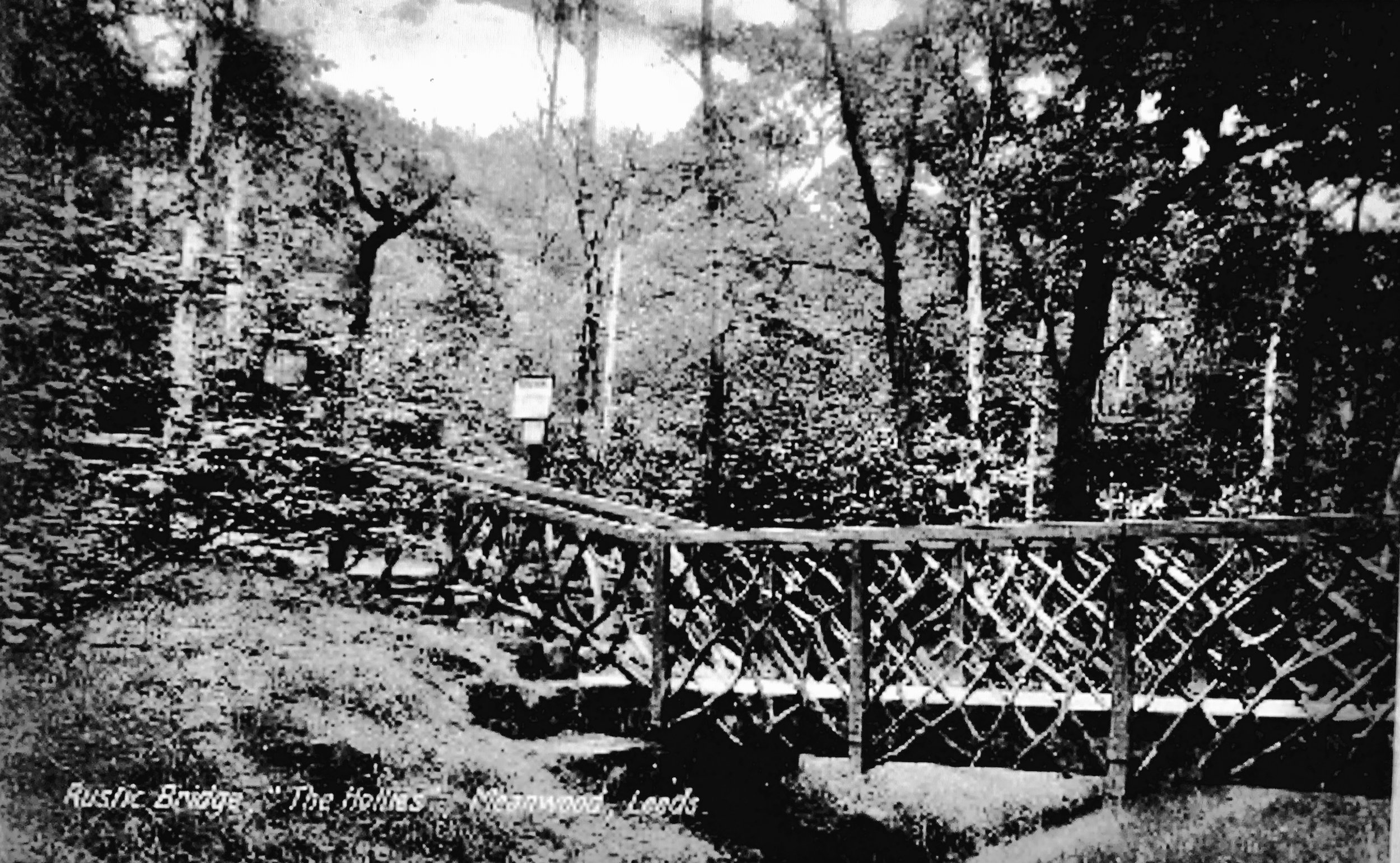 The Hollies Rustic Bridge