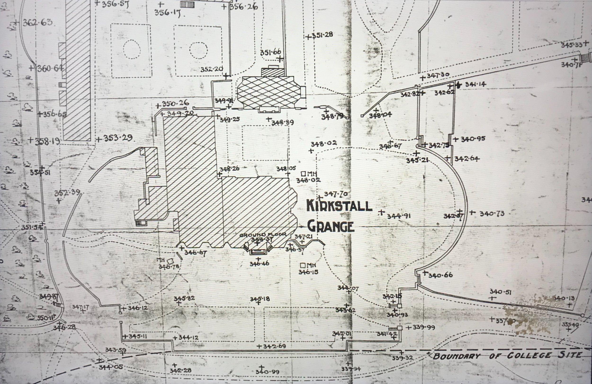 Plan, Kirkstall Grange (detail)