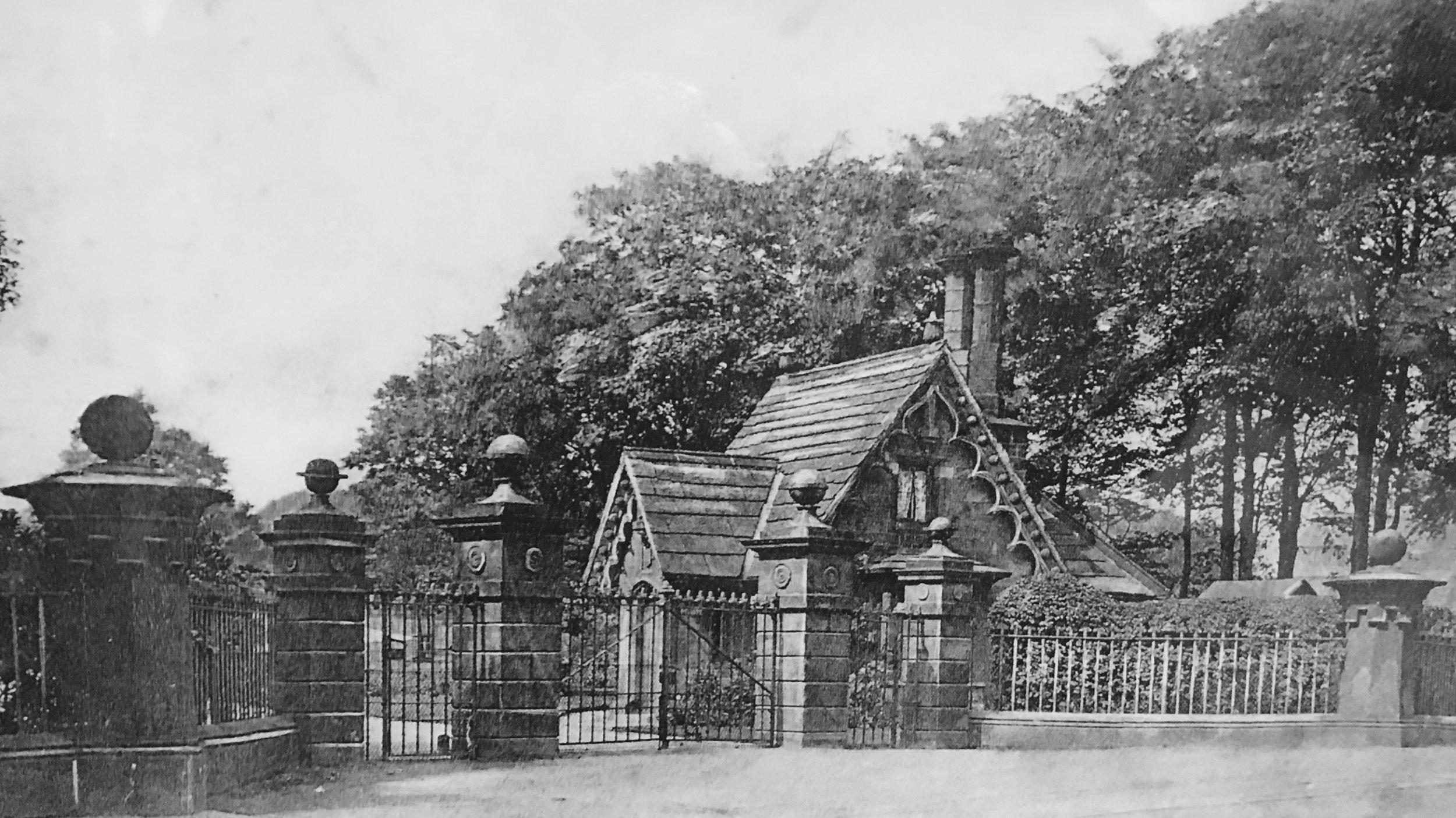 Entrance, Kirkstall Grange Estate, Otley Road, c1900