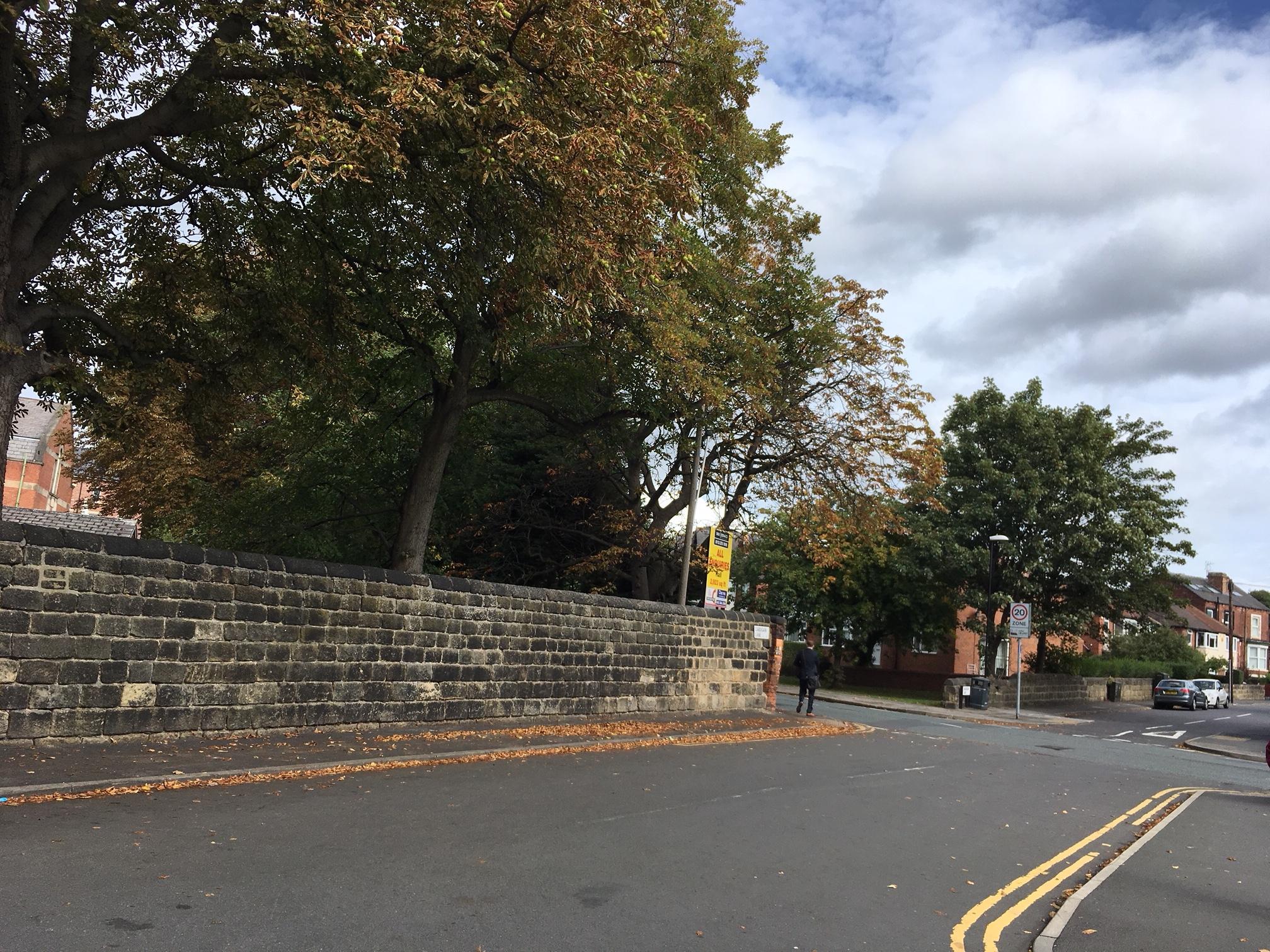 The Garden Wall, southern exterior, Cardigan Lane