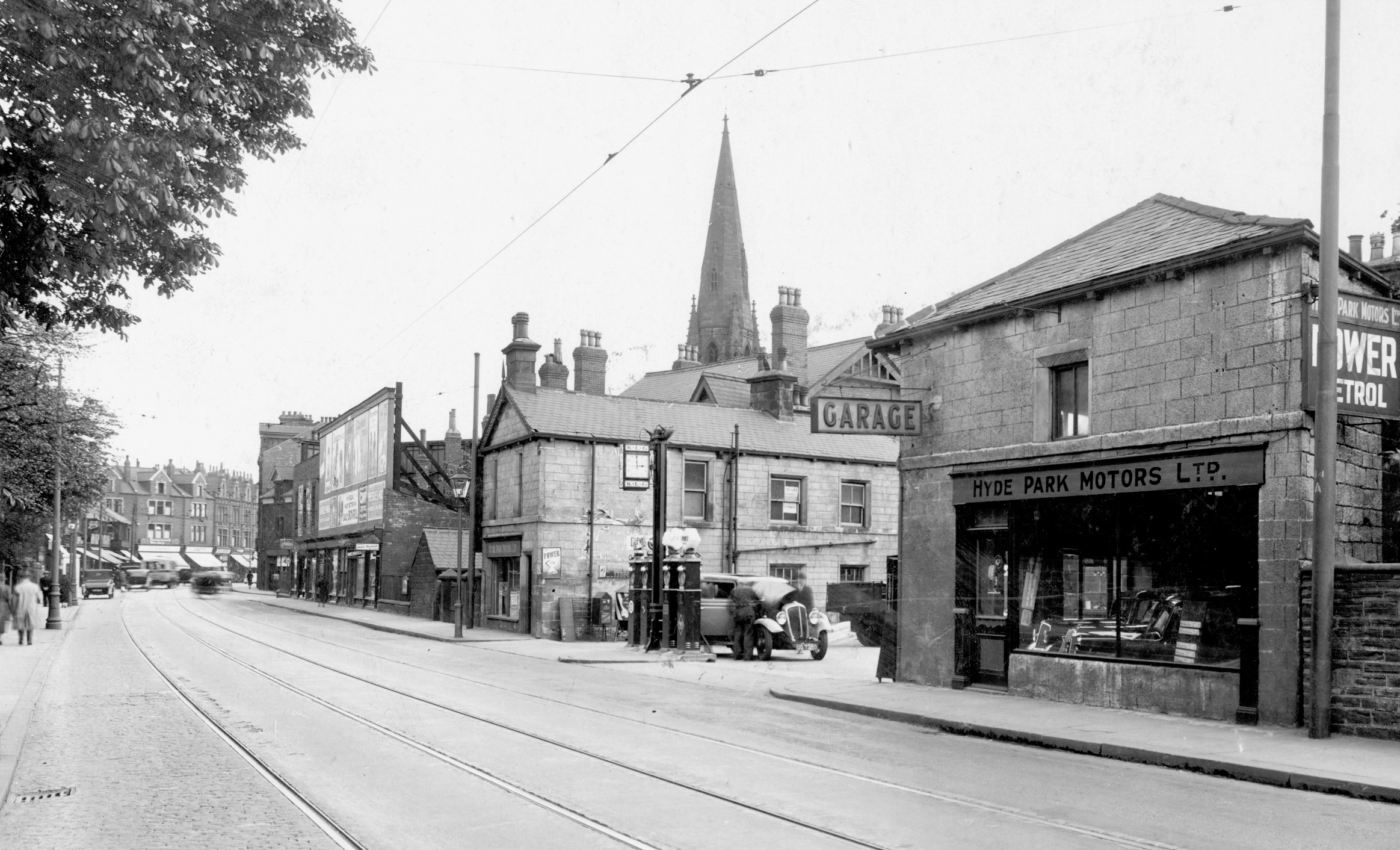 Hyde Park Motors, Headingley Lane, 1935