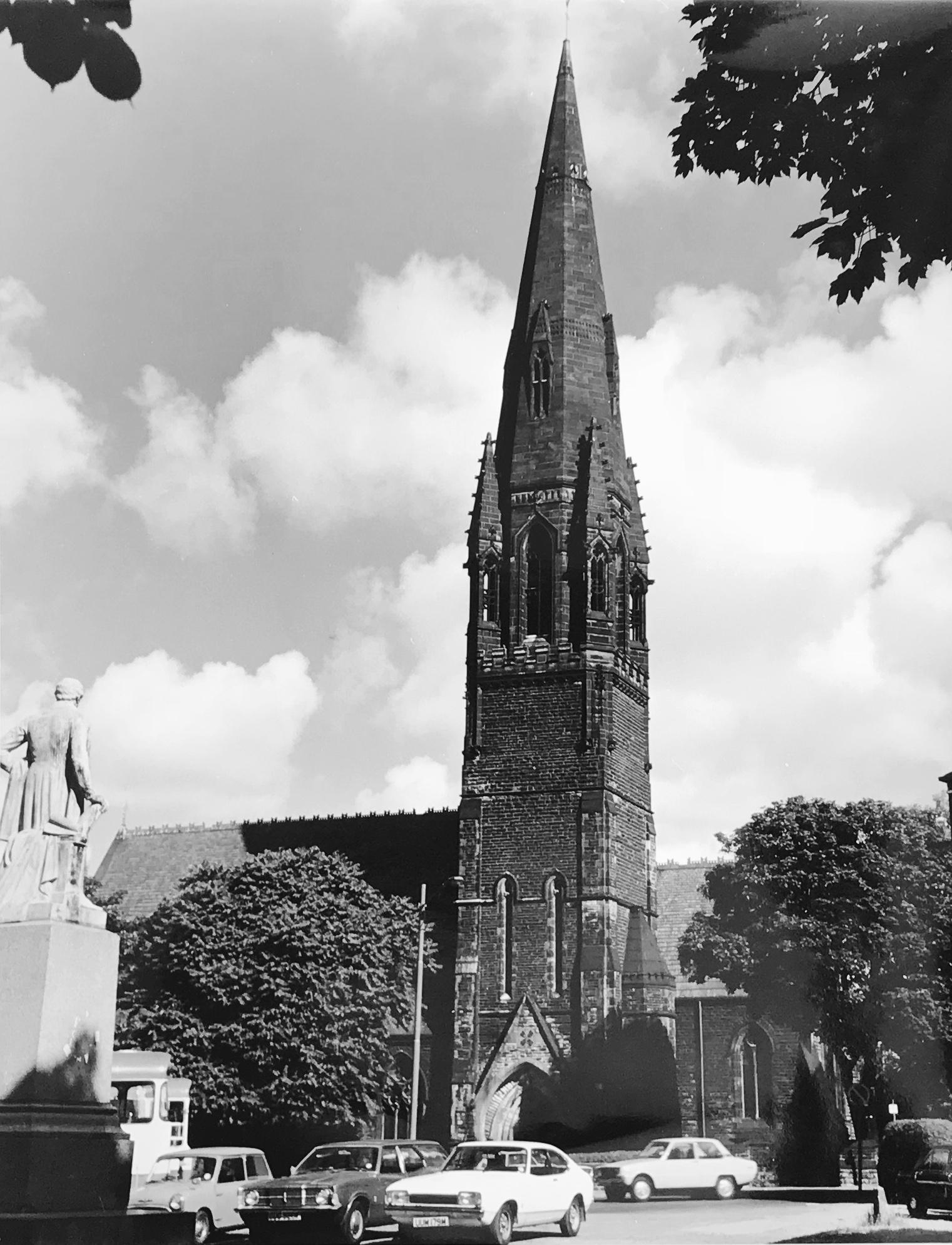 Wrangthorn Church, from Woodhouse Moor, c1960