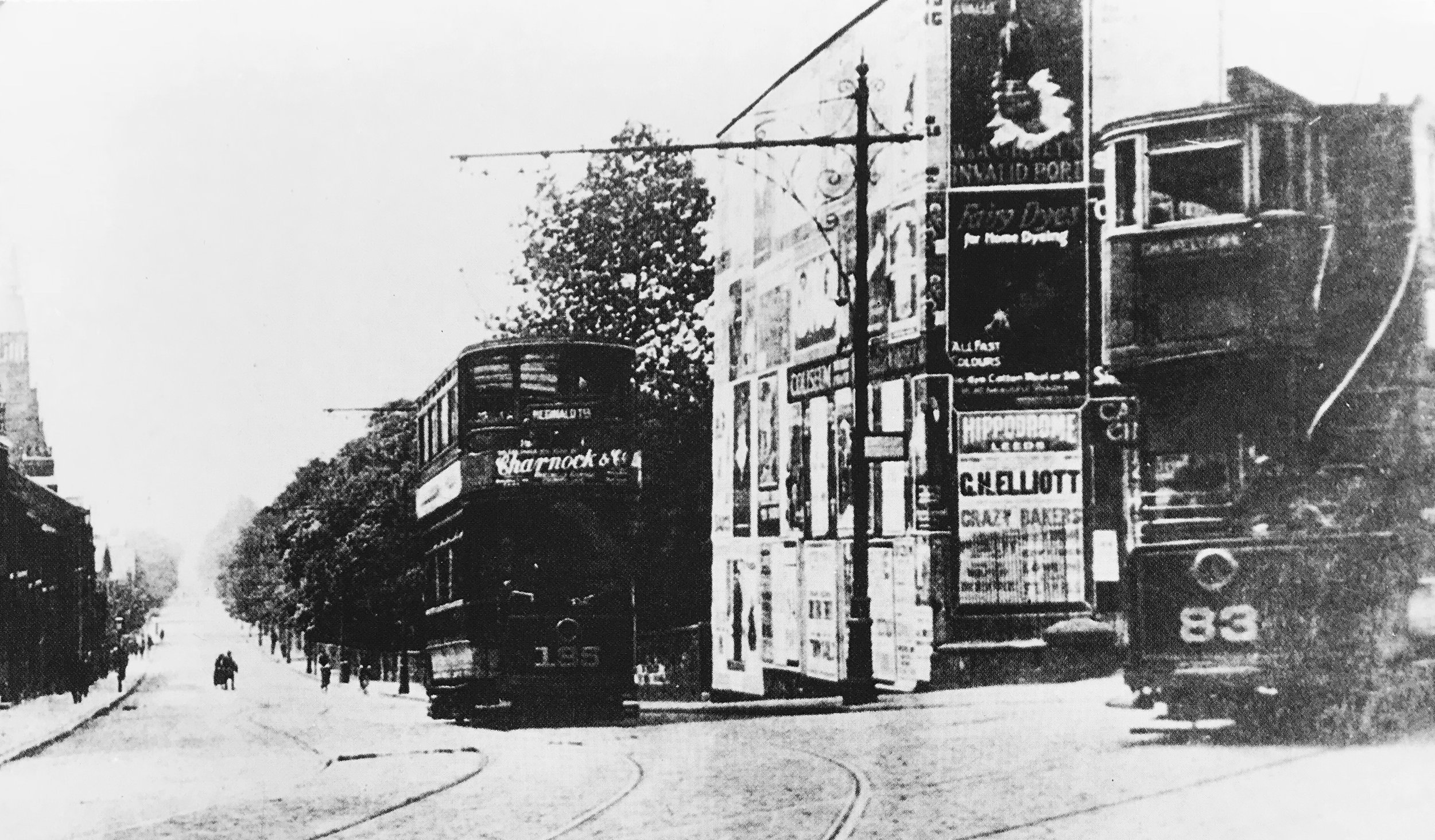 Victoria Road from Hyde Park Corner, undated
