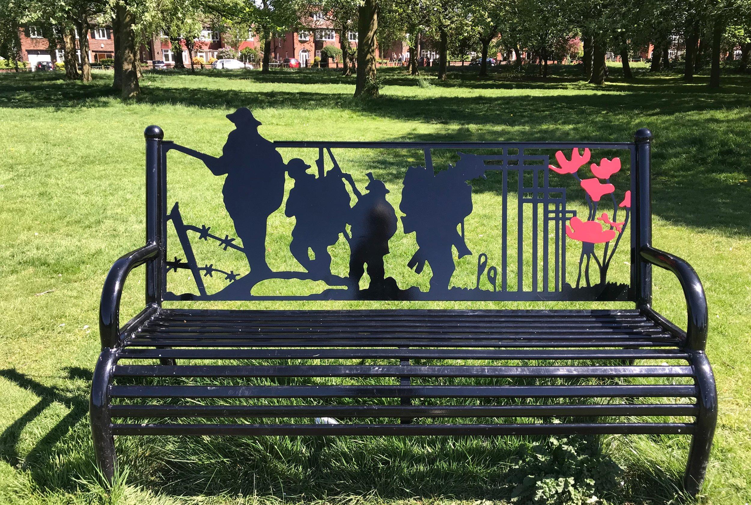 Memorial Bench, Beckett Park © HP