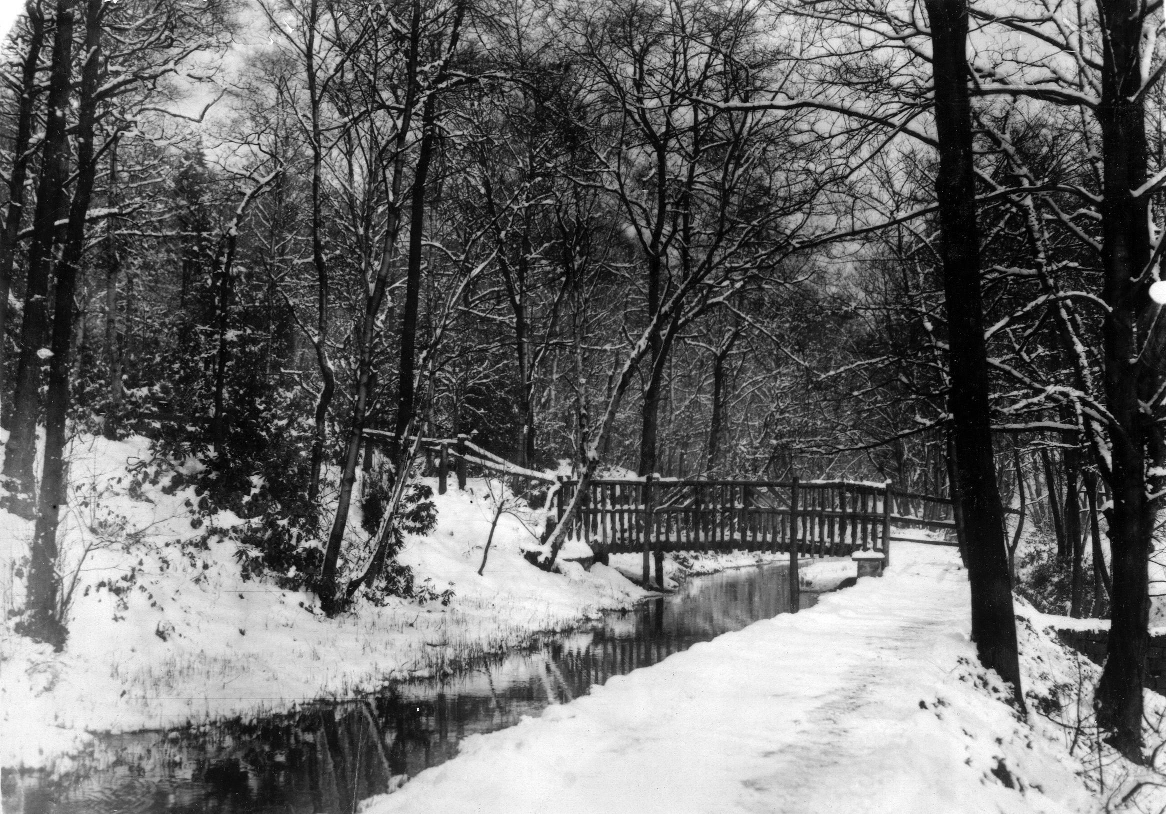 The Hollies, Bridge over Mill Stream in Winter, circa1920s