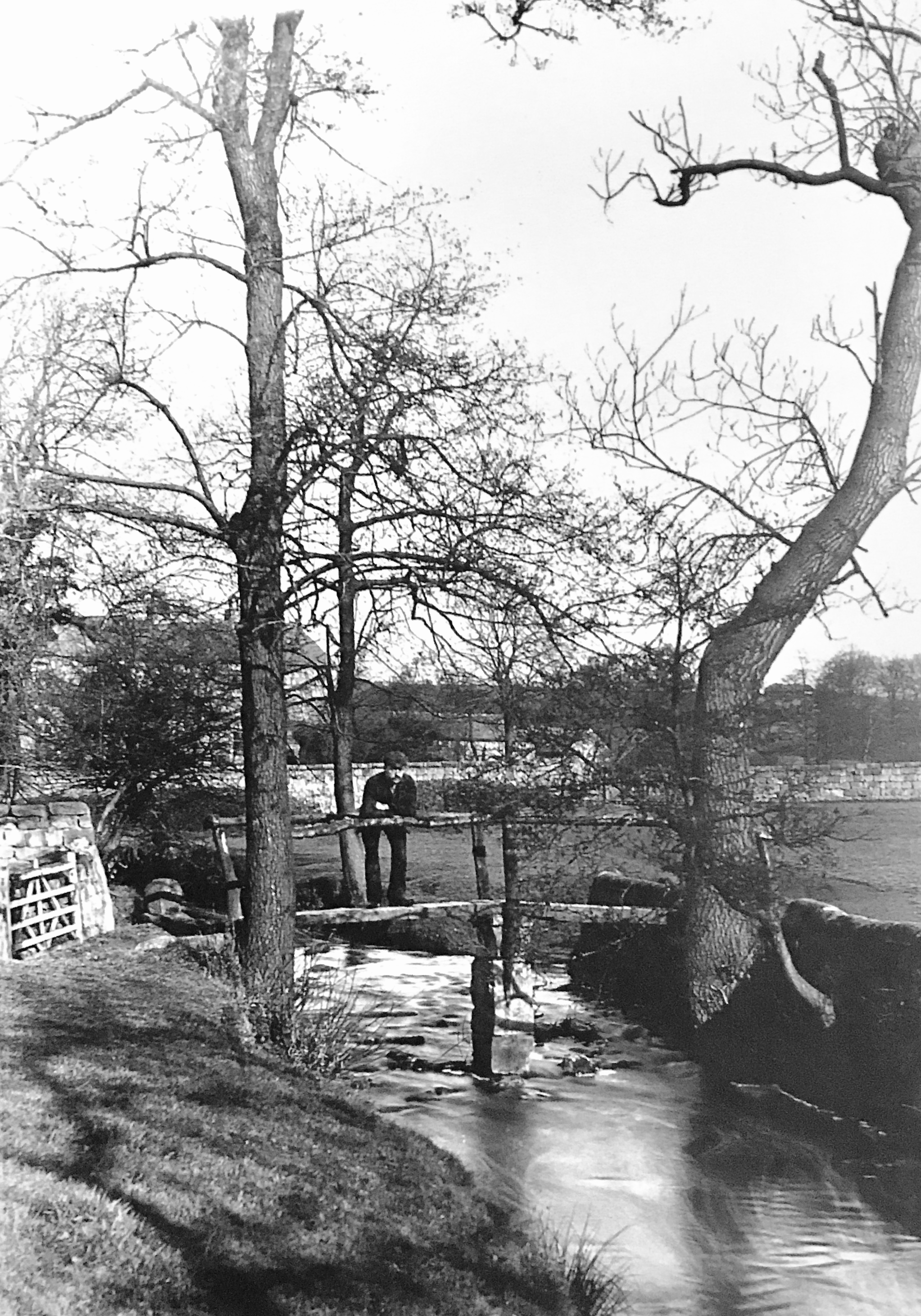 Meanwood Beck with Old Bridge, Circa 1890