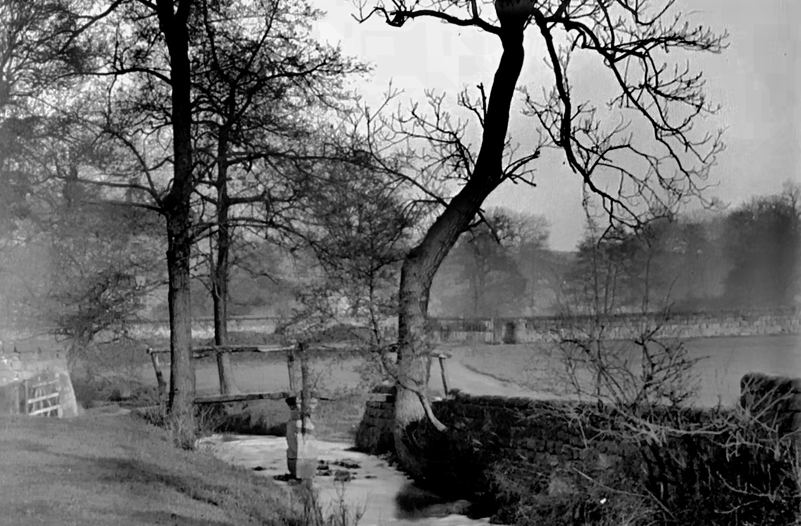 Meanwood Beck with Old Bridge, 1887