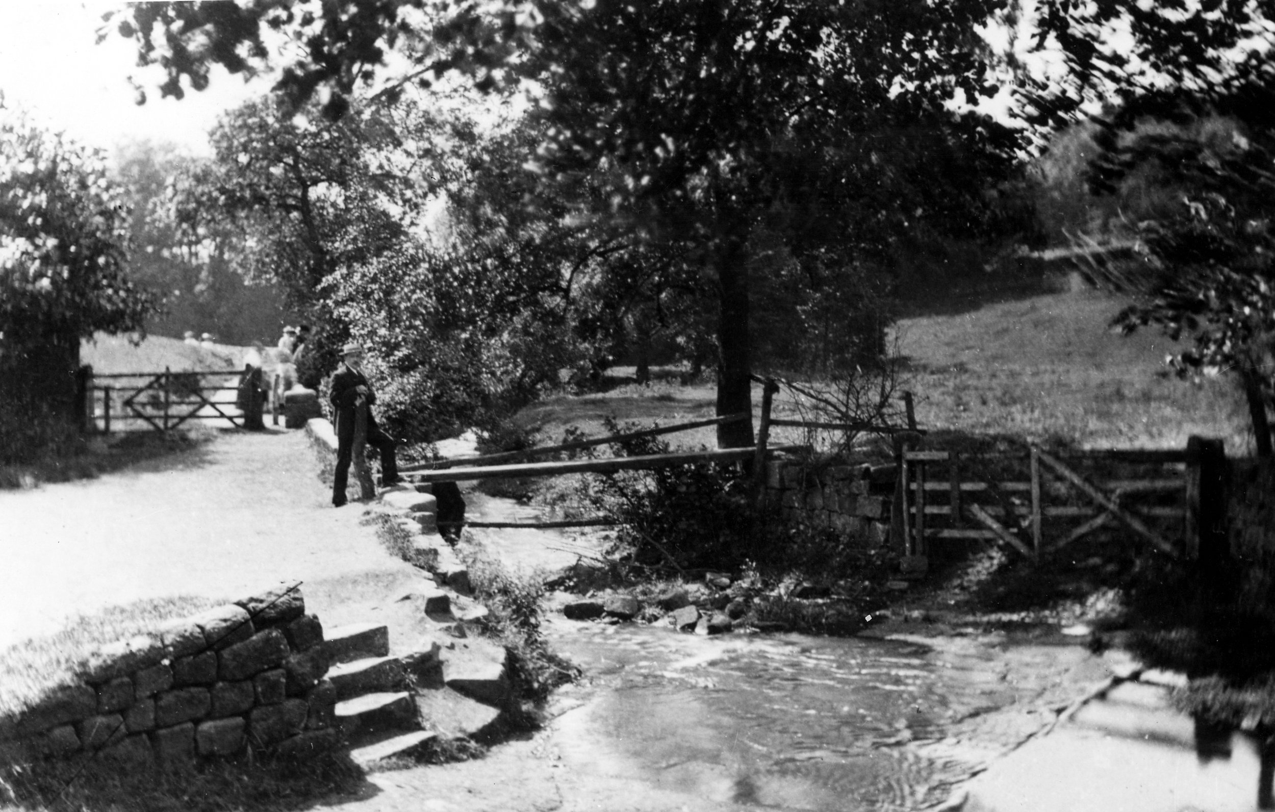 Meanwood Beck with Old Bridge, Circa 1910