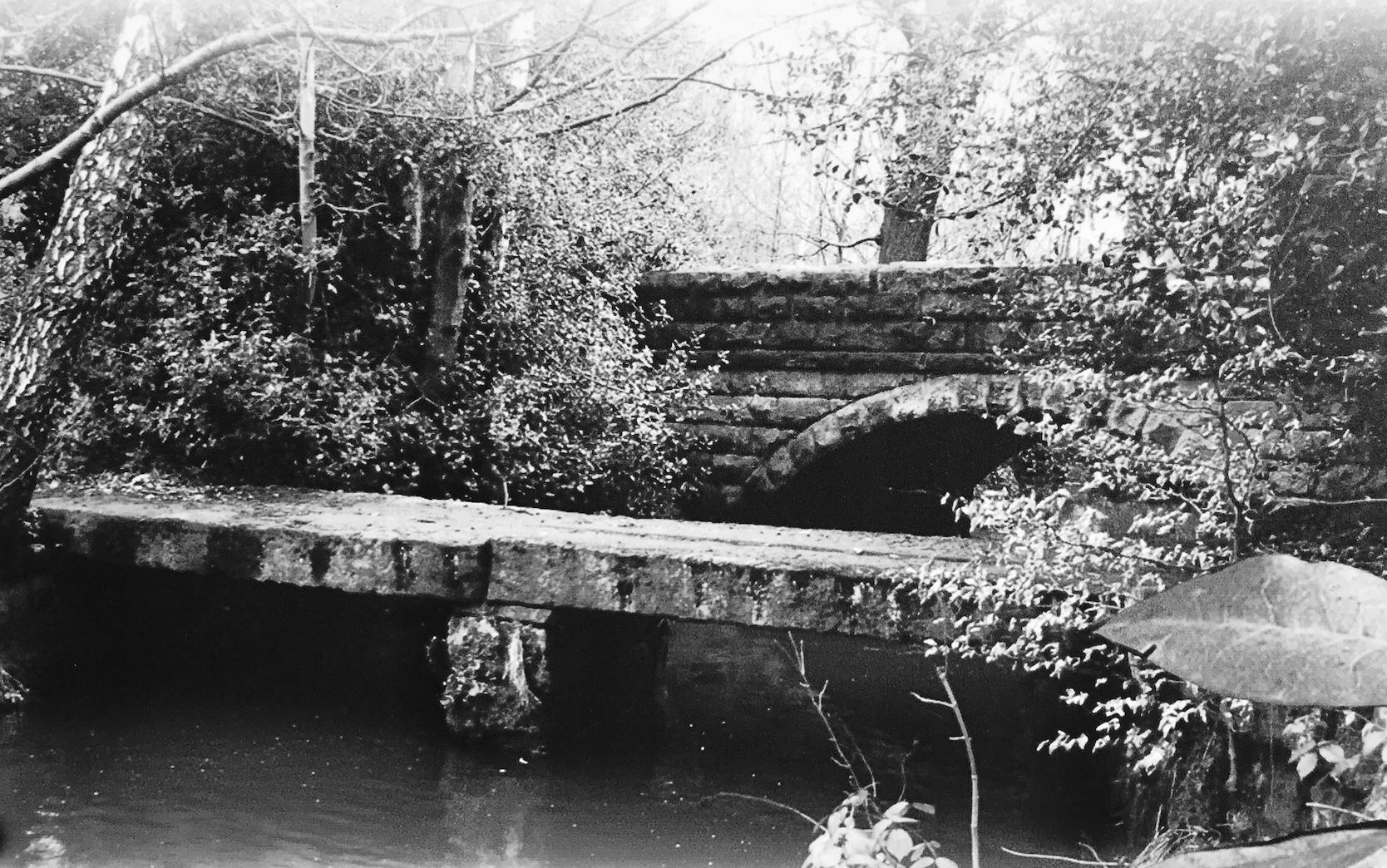 Clapper Bridge over Meanwood Beck, undated