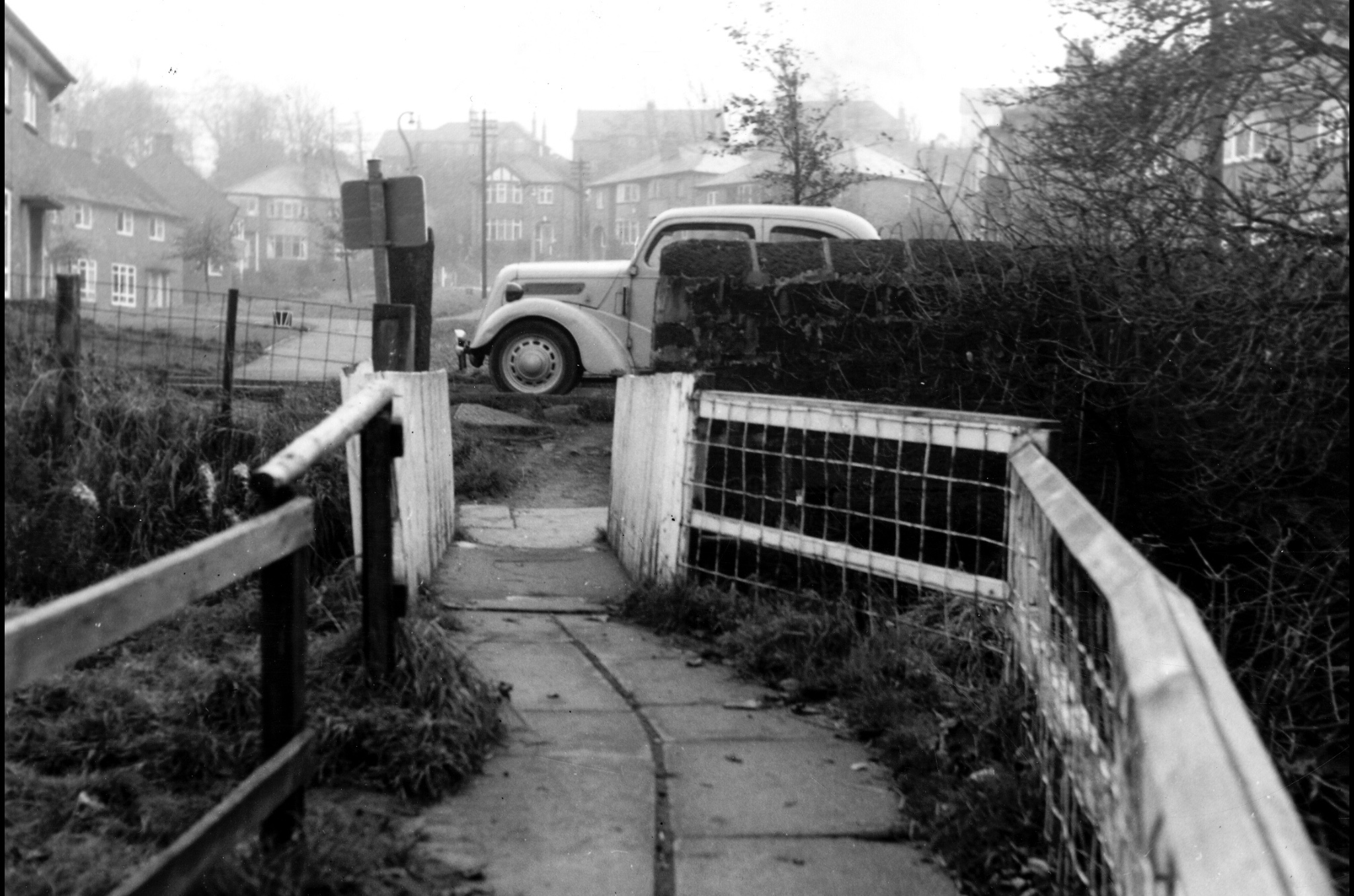 Entrance by Bridge to Meanwood Park, 1965