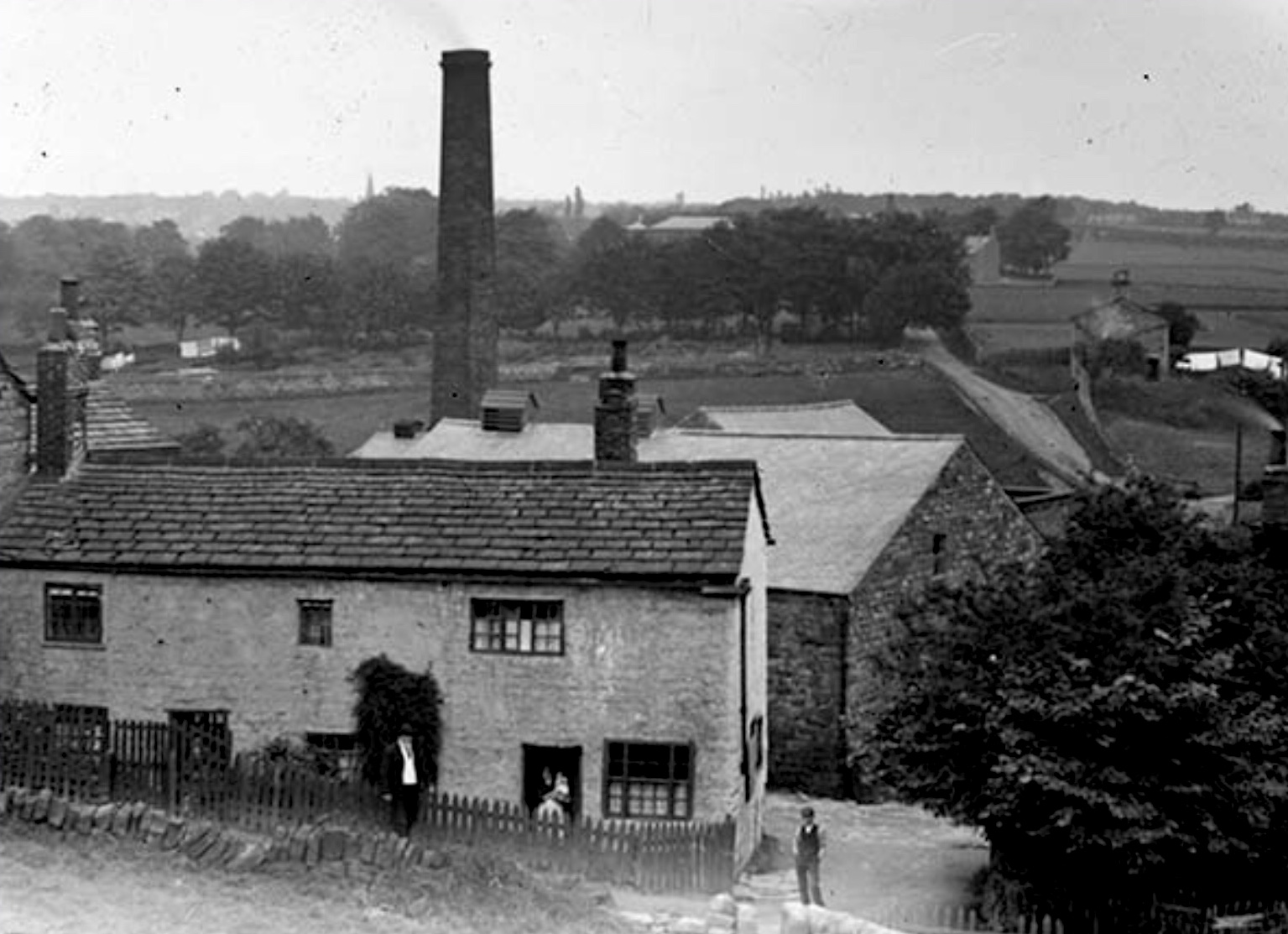 Woodland Dye Works [demolished], Meanwood Valley, circa 1890