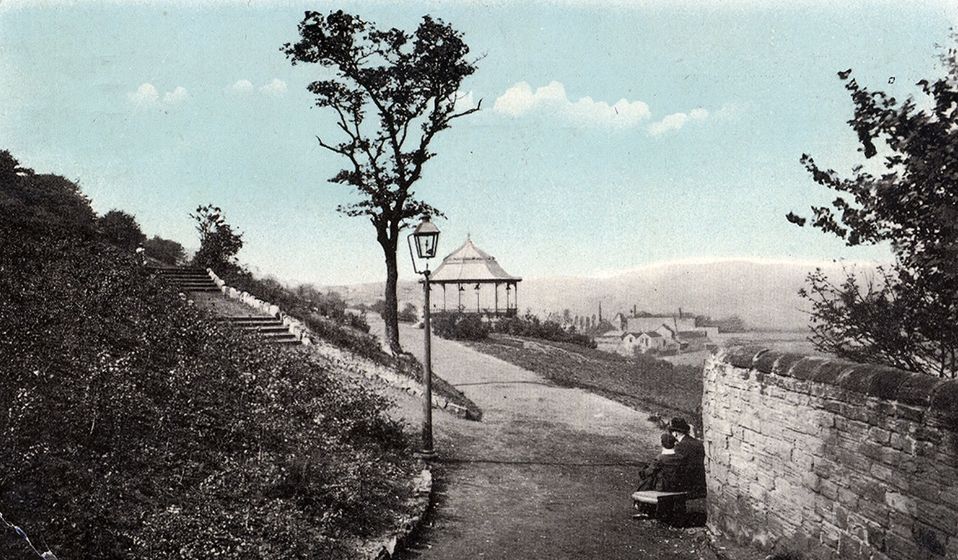 Woodhouse Ridge, with Bandstand and Steps, circa 1917