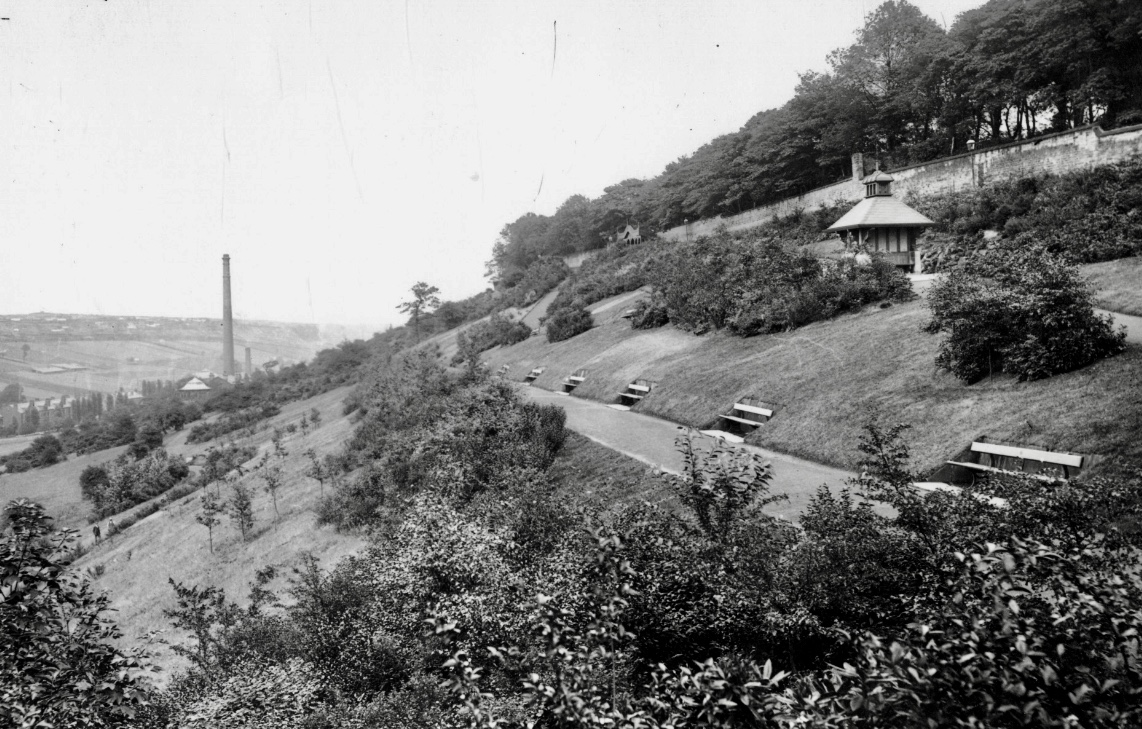Woodhouse Ridge, with Mill Chimney in Meanwood Valley, undated