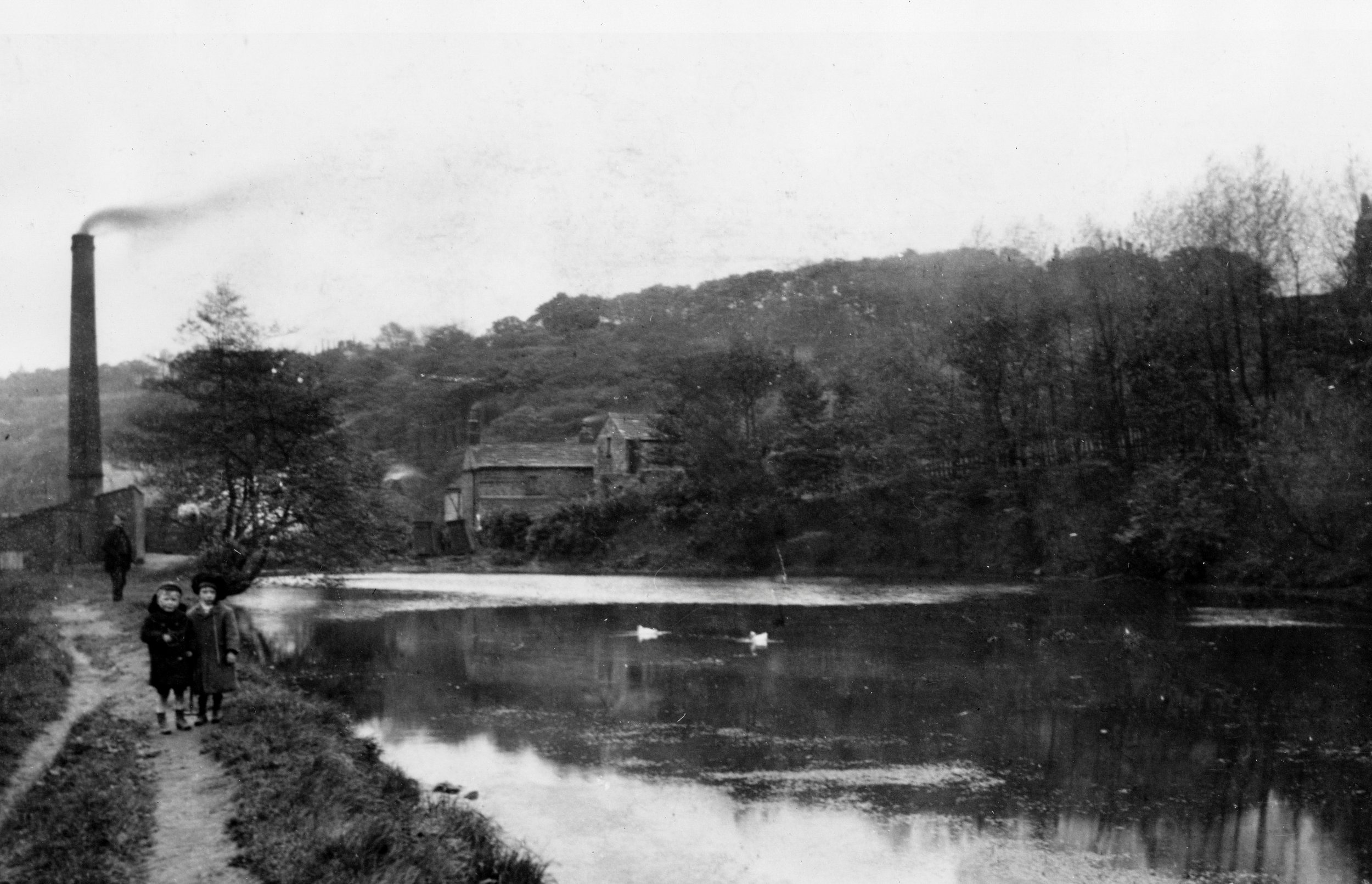 Mill Pond, Woodland Dye Works [demolished], 1910