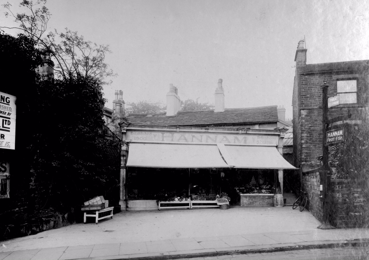 Hannam's Fruit and Fish Shop, 50 North Lane, 1931