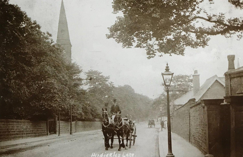 Headingley Lane, climbing Headingley Hill, 1905