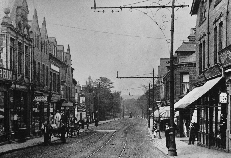 Otley Road, through Headingley Centre, c1903