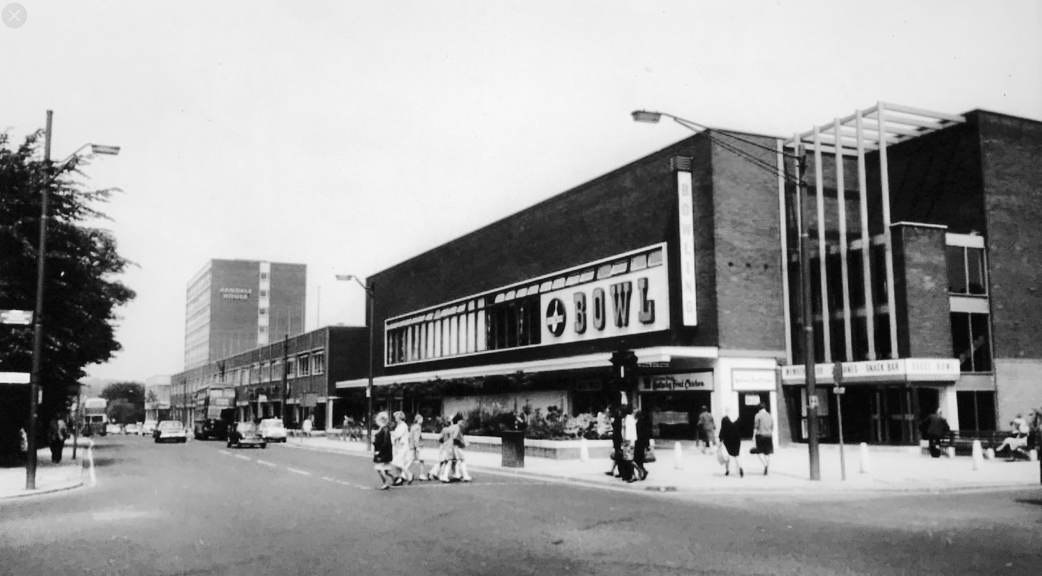 Otley Road, with Arndale Centre, 1967