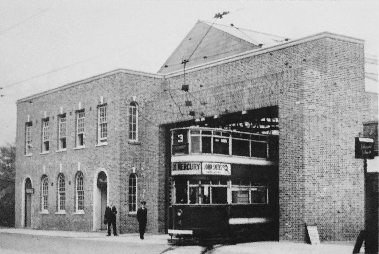 Tram Depot, Otley Road, Far Headingley, c1930