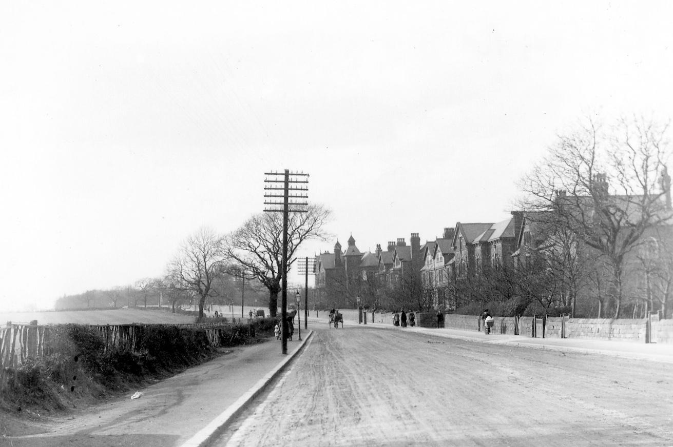 Otley Road, climbing Reservoir Hill, Far Headingley, c1900