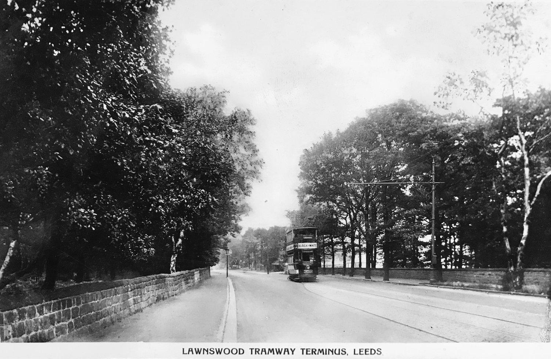 Tram Terminus, Otley Road, c1940