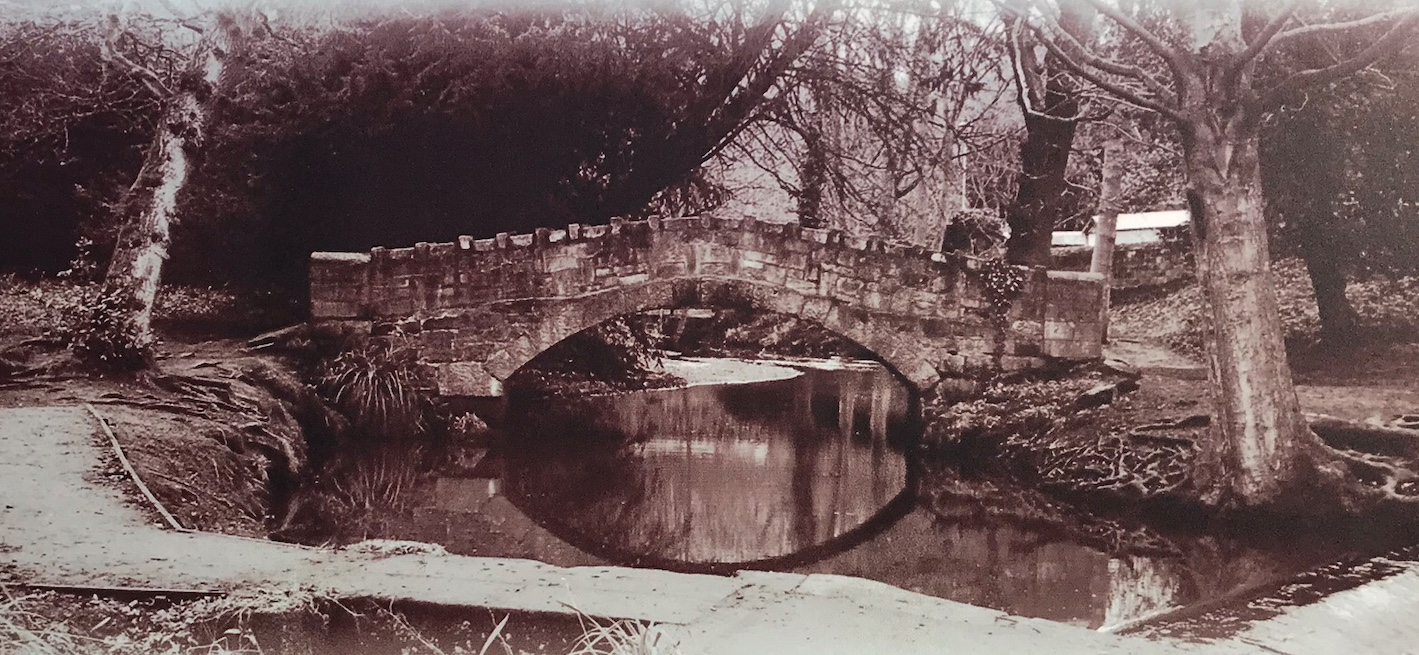 09  Whalley Dam [to right], for Meanwood Tannery, and Venetian Bridge, undated